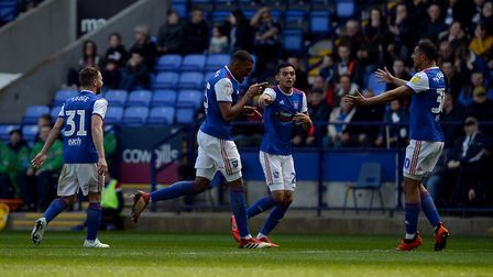 Collin Quaner celebrates his first goal at Bolton Picture Pagepix