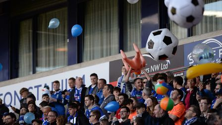 Town fans with their inflatables before kick-off at Bolton Picture Pagepix