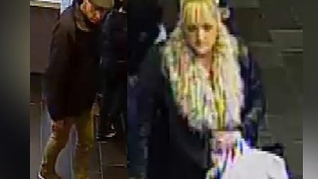 Essex Police would like to speak with these two people in connection with the theft of sunglasses fr