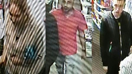 Essex Police are searching for these three in relation to the theft of perfume from a Savers Health