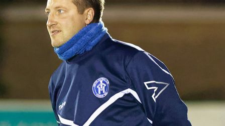 Leiston boss Stuart Boardley has watched his team struggle recently. Photo: PAUL VOLLER