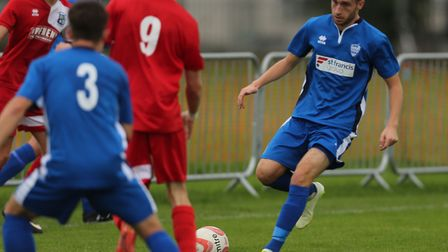 Michael Brothers led Brantham Athletic to an upset 2-0 win over Thurlow Premier champions Histon.P