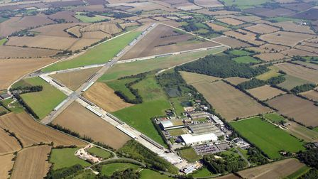 The Bernard Matthews factory at Holton, on Halesworth airfield, pictured from above Picture: MIKE P