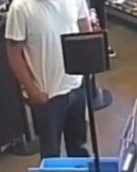 Suffolk police want to identify this man in relation to a incident in Newmarket. Picture: SUFFOLK CO