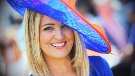 Sarah Hanson at Newmarket Ladies Day 2015 Picture: GREGG BROWN