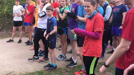 All smiles before the start of last Saturday's Millennium Country parkrun, in Bedfordshire. Picture: