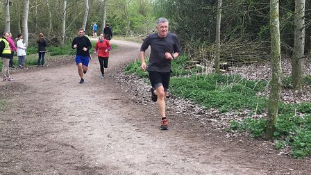 Runners approach the finish to last Saturday's event, at the Forest of Marston Vale. Picture: CARL M