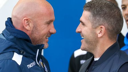 U's boss John McGreal and Bury manager Ryan Lowe, who will be in opposing dug-outs at Giggs Lane tod