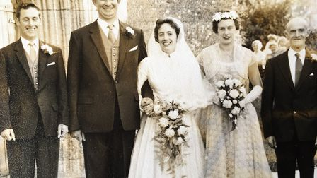 Clem and Mary's wedding in Worlington in 1959 Picture: TOMPSETT FAMILY