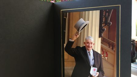 A picture of Clem when he was made an MBE in 2006 Picture: Archant