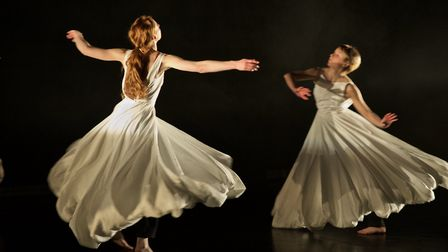 Dancers from Sally Marie's production of BEAUTiFUL,which was staged at DanceEast. Photo: Dominic Far