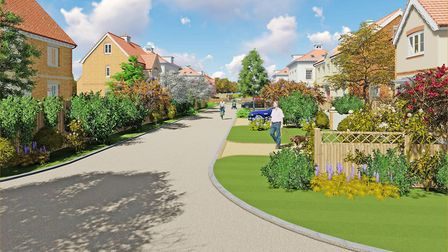 The plans would see 75 new homes built in Rendlesham Picture: CCD LTD.