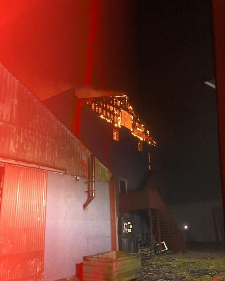 Crews were called to the scene of the fire just before 3am Picture: SUFFOLK FIRE AND RESCUE SERVICE