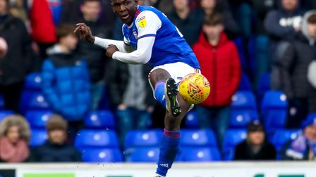 Toto Nsiala has made 14 starts and four substitute appearances since joining Ipswich Town. Photo: St