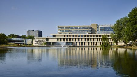 University of Essex's Albert Sloman Library and Silberrad Student Centre, which has won an RIBA awar