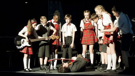 The band, named The School of Rock, were the stars of the show. Pictures: FINBOROUGH SCHOOL