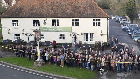 The opening of The Kings Head in Pebmarsh as a community owned pub in 2017 Picture : RICHARD MARSHA