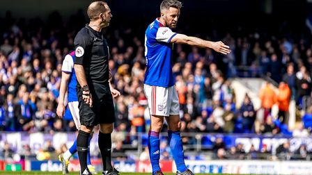 Cole Skuse complains to referee Jeremy Simpson during last Saturday's 1-1 home draw with Birmingham