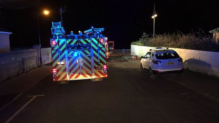 Crews have been called to a fire at a disused care home in Lowestoft Picture: SUFFOLK FIRE AND RESCU