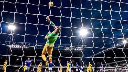 Stand-in keeper Paul Gallagher pulls off a fine save as Ipswich Town drew Paul Lambert's first game