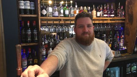 Oliver Lomas, manager at The Falcon, Ipswich. Photo: Archant.