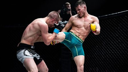 George Tanasa's destructive kicks were key in his win at Cage Warriors Academy South East 23. Pictur