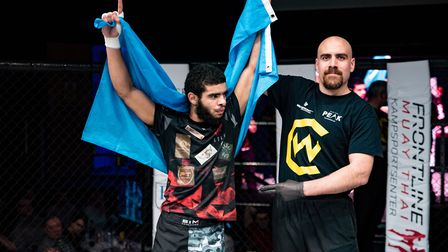 Muhidin Abubakar showed once again that he's one of the best flyweights in the country. Picture: BRE