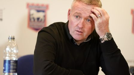Ipswich Town manager Paul Lambert has formed a strong bond with the club's supporters. Photot: Steve