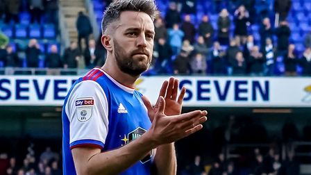 Cole Skuse looks dejected as he applauds fans after the game. Picture: Steve Waller www.stephe