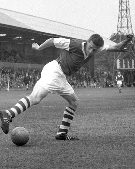 Ted Phillips scored 42 goals for Town in the 1956/57 season. Picture: ARCHANT