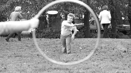 The first frisbee went on sale in 1957. Picture: ARCHANT