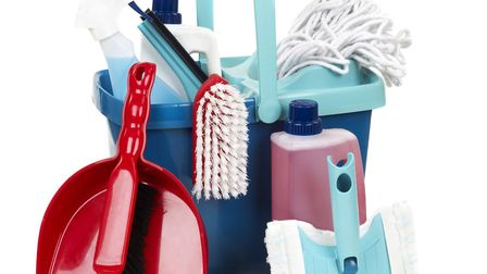 The (largely unused) contents of the cleaning cupboard. Picture: Getty Images/iStockphoto