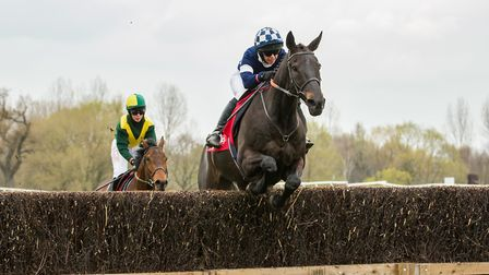 Sa Kaldoun and Rosie Turner on the way to victory in the Ladies Open race at Fakenham. Picture: GRAH