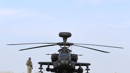 The Apaches will be operating from Estonia to support NATO forces working to reassure allies and det