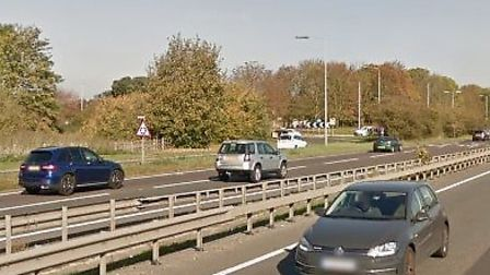 Traffic is building on the northbound carriageway of the A12 following a multi-vehicle collision nea