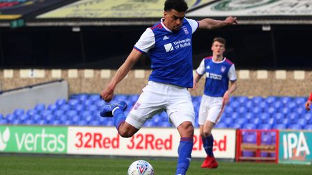 Tom Adeyami made a scoring return for Town U23s Picture: ROSS HALLS