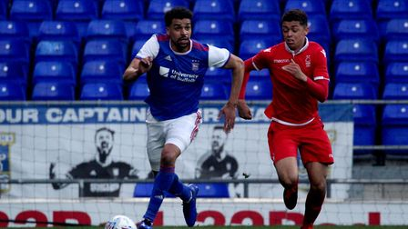 Tom Adeyami in action for Town U23s against Nottingham Forest at Portman Road Picture: ROSS HALLS