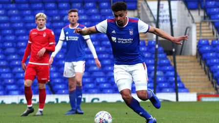 Tom Adeyami played the first 45 minutes for Town U23s Picture: ROSS HALLS
