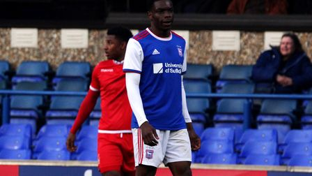 Trialist Deese Kasinga-Madia played another 90 minutes for Town U23s Picture: ROSS HALLS