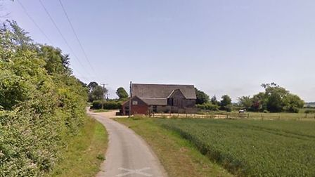 An area of Shadow Barn Lane near Bungay. Picture: GOOGLE MAPS