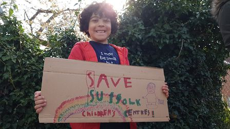 A campaign to save under threat children's centres was launched outside Hillside. Picture: RACHE