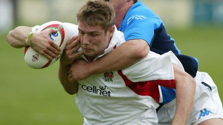England rugby union star Ben Cohen in action in 2002. Picture: PA/Tom Hevezi.