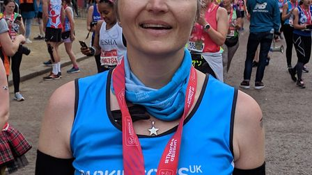 Lisa Dalton, who completed the London Marathon on Sunday Picture: SUPPLIED BY LISA DALTON
