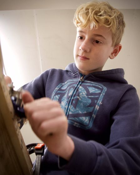 Youngsters have got to grips with boat building skills Picture: TIM CURTIS/ LIFE ON THE DEBEN.COM