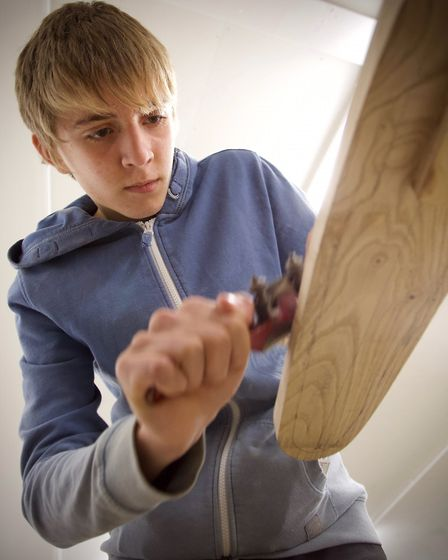 Students have spent two months building a canoe Picture: TIM CURTIS/ LIFE ON THE DEBEN.COM