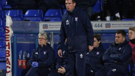 Town U23s coach Gerard Nash, pictured on the touchline during his side's loss to Birmingham. Picture