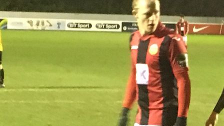 Matthew Price, who scored Heybridge Swifts' second goal in a 2-0 win at Aveley