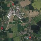 The locations of the two new roundabouts as part of the A140 junction improvements Picture: GOOGLE M