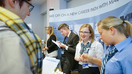 Hundreds of jobs are on offer at the London Stansted Job Fair. Photo: Tony Pick.