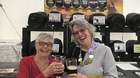 Sue Campbell (right) and Dee Hoile from the U3A group in Sudbury Picture: ARCHANT